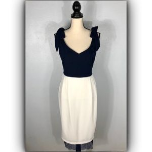 ASOS Blue & White Sheath Dress     Size: 8